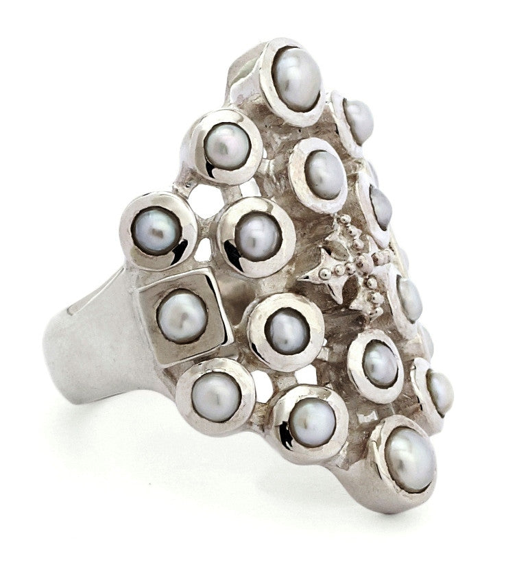 Latiffa Ring - ring - KIR Collection - designer sterling silver jewelry