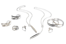Channel Hook Earring - earring - KIR Collection - designer sterling silver jewelry
