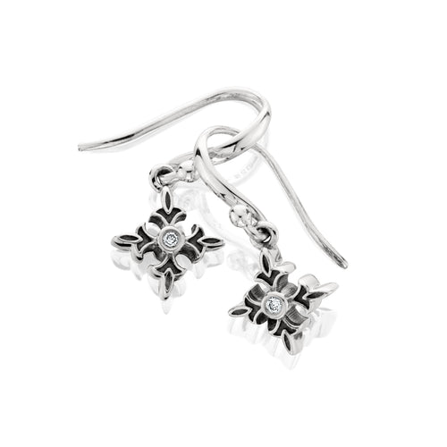 Logo Drop Earring - earring - KIR Collection - designer sterling silver jewelry