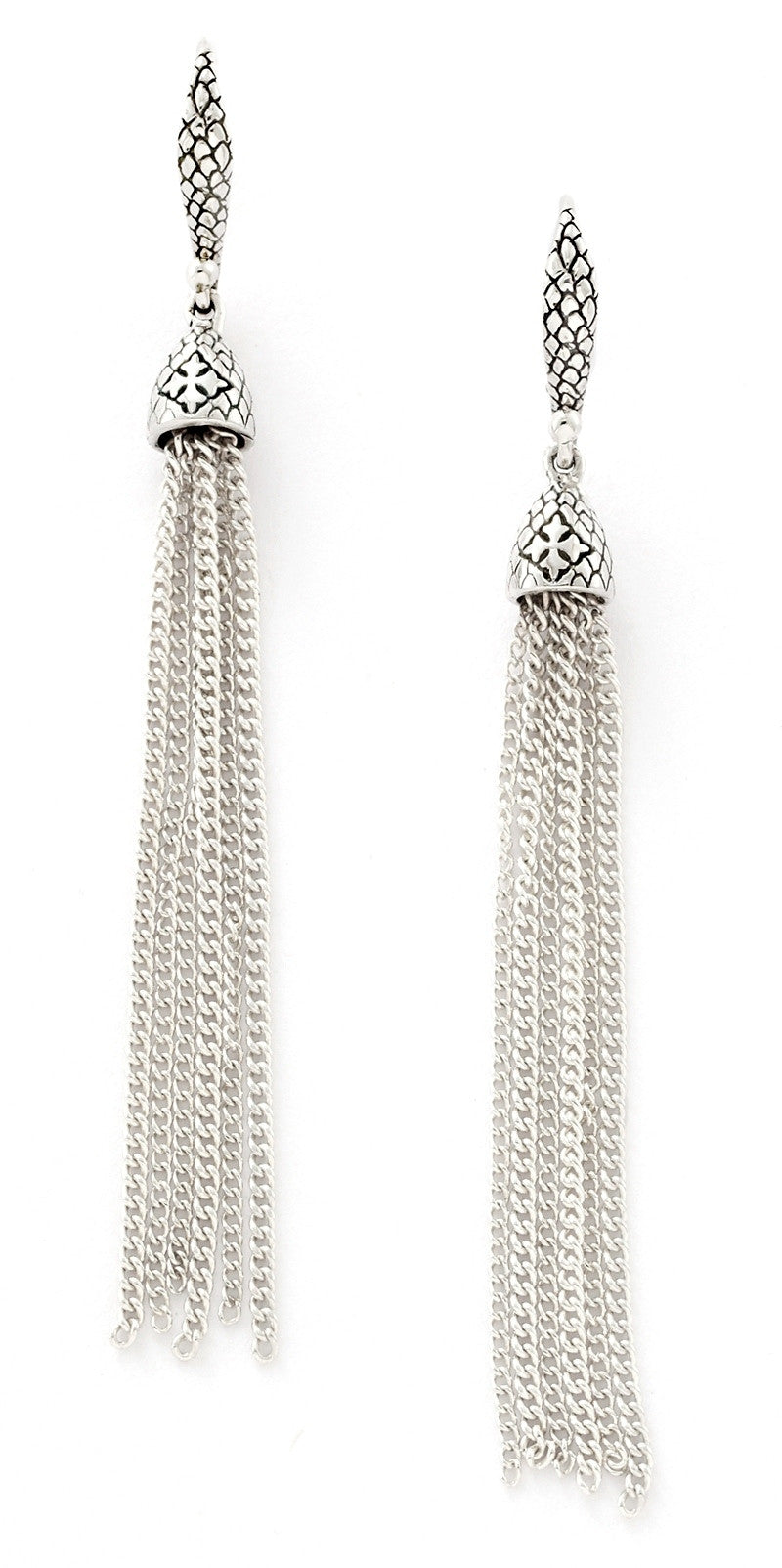 Anna Tassel Earrings - earring - KIR Collection - designer sterling silver jewelry