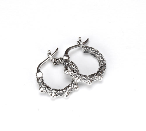 Jawan Small Hoop - earring - KIR Collection - designer sterling silver jewelry