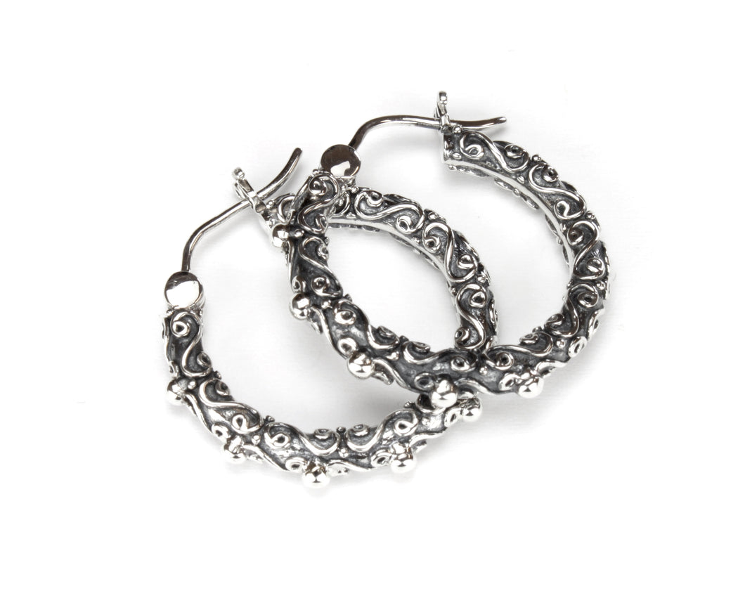 Jawan Medium Hoop - earring - KIR Collection - designer sterling silver jewelry