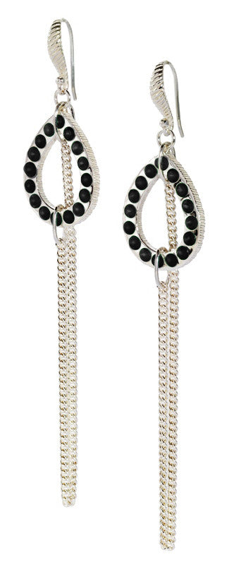 Chandi Chain Earring - earring - KIR Collection - designer sterling silver jewelry