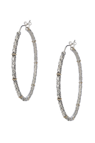Jawan Large Hoop - earring - KIR Collection - designer sterling silver jewelry