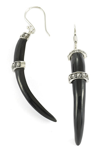 Tanduk Claw Earring - earring - KIR Collection - designer sterling silver jewelry