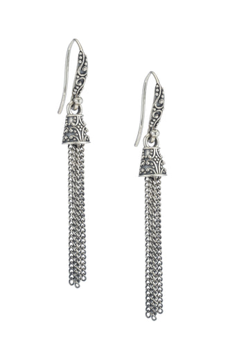 Mini Tassel Earrings - earring - KIR Collection - designer sterling silver jewelry