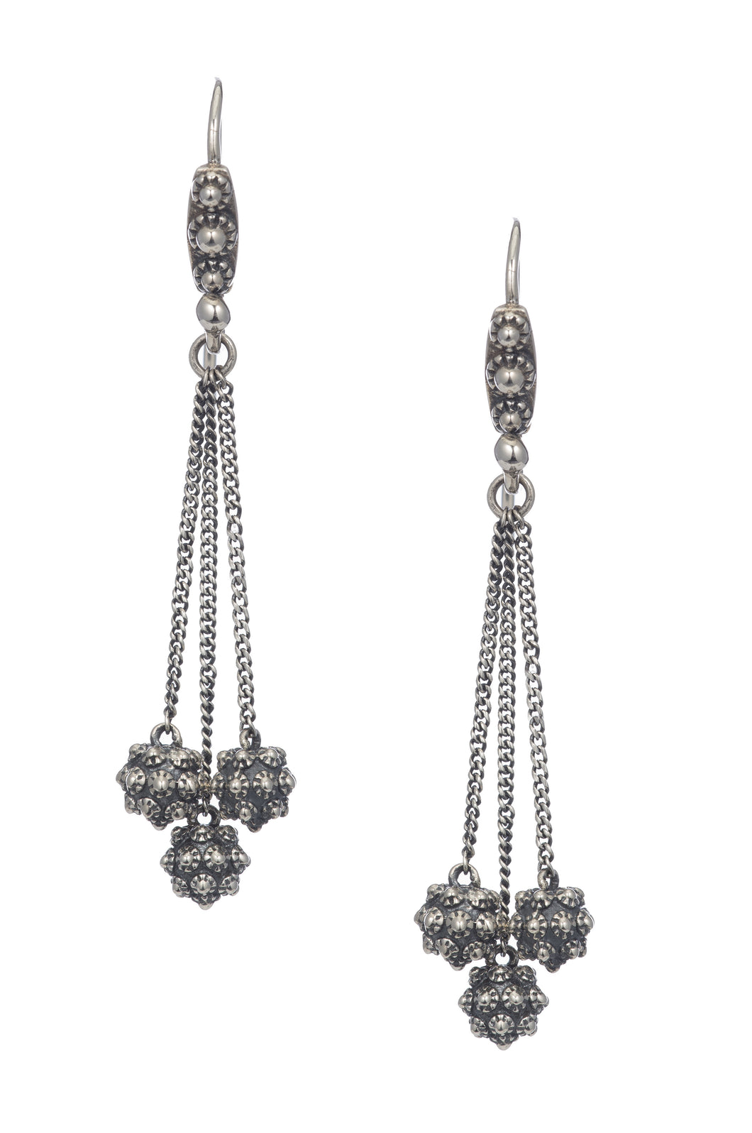 Stupa Earrings - earring - KIR Collection - designer sterling silver jewelry