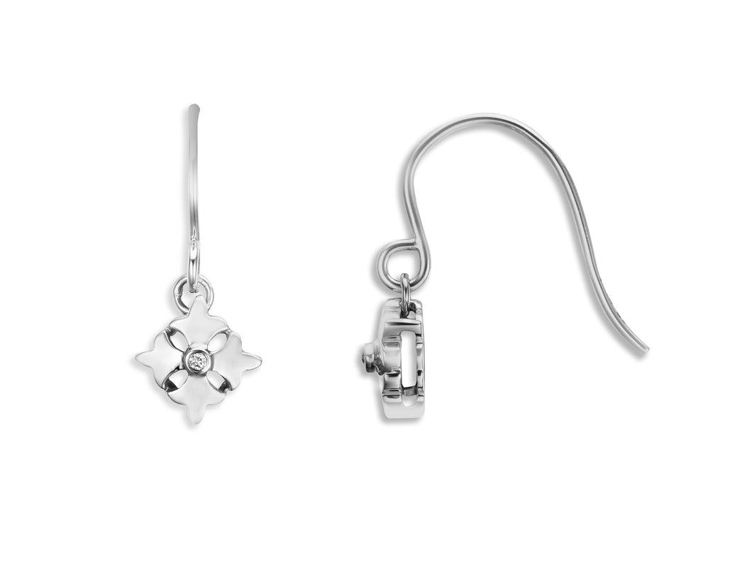 Single Logo Drop Earring