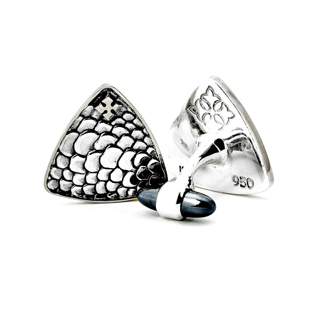 Georgie Pick Cuff Links - cufflink - KIR Collection - designer sterling silver jewelry
