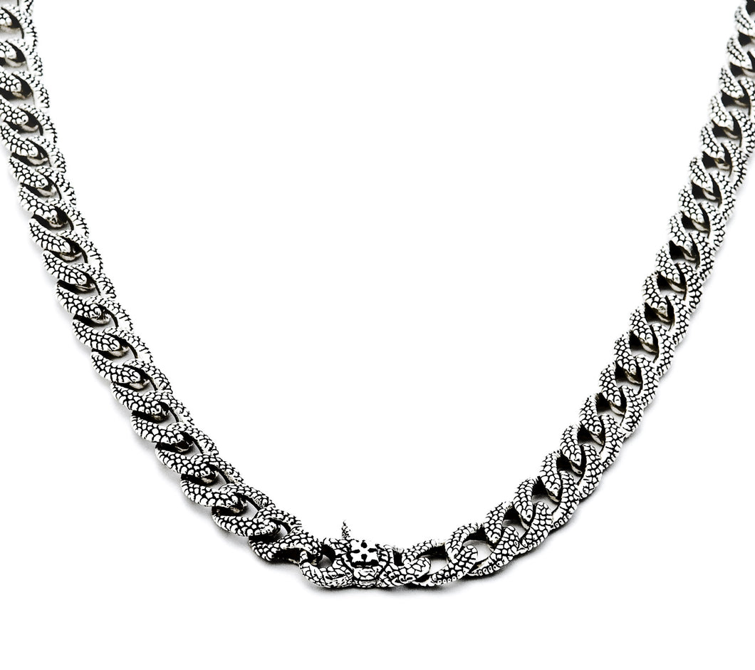 Georgie Curb Chain Necklace - necklace - KIR Collection - designer sterling silver jewelry