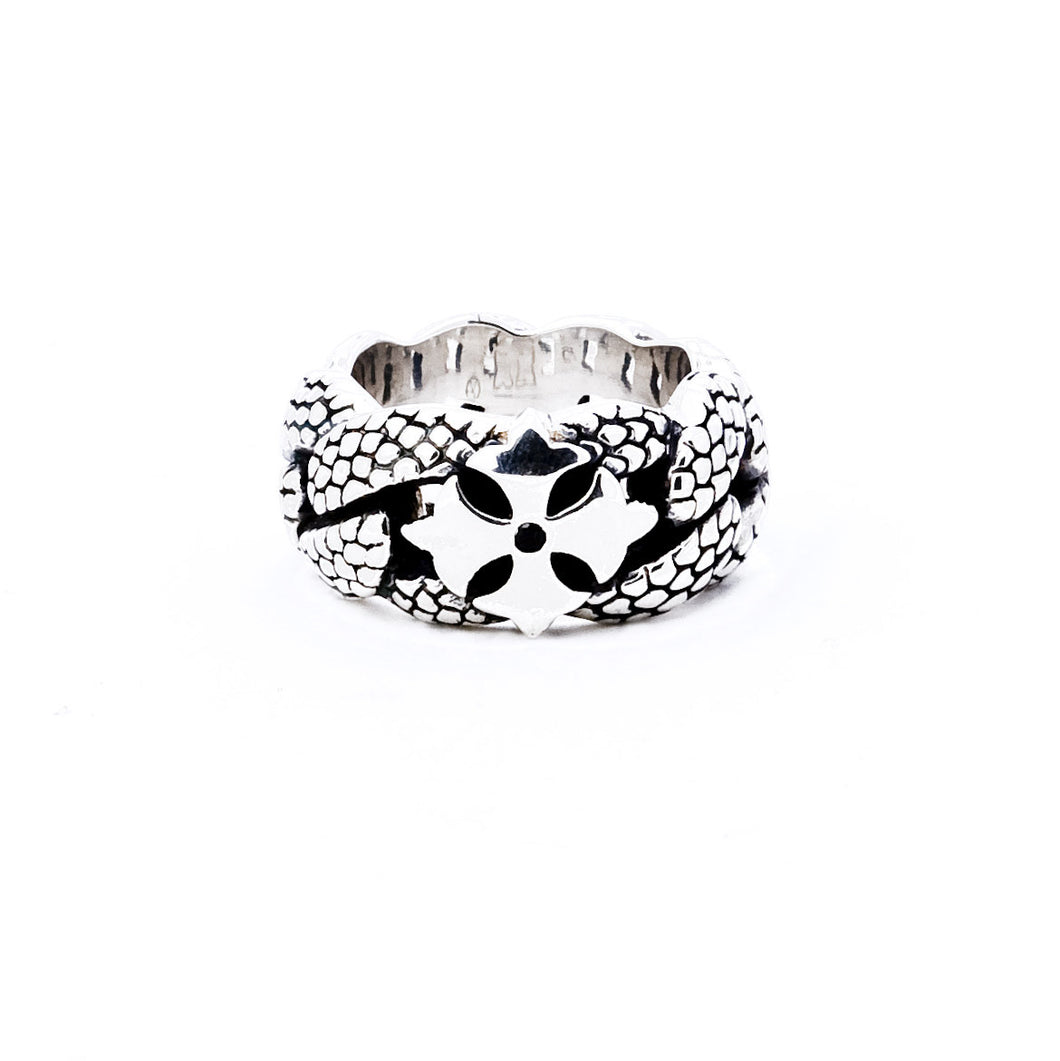 Georgie Curb Chain Ring - ring - KIR Collection - designer sterling silver jewelry