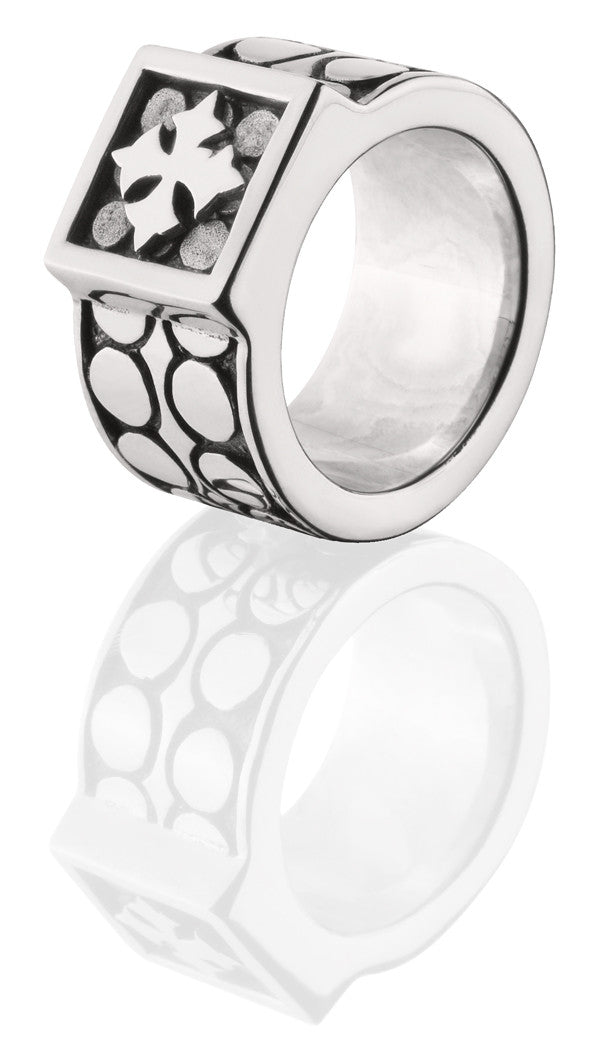 Davis Disk Ring - ring - KIR Collection - designer sterling silver jewelry