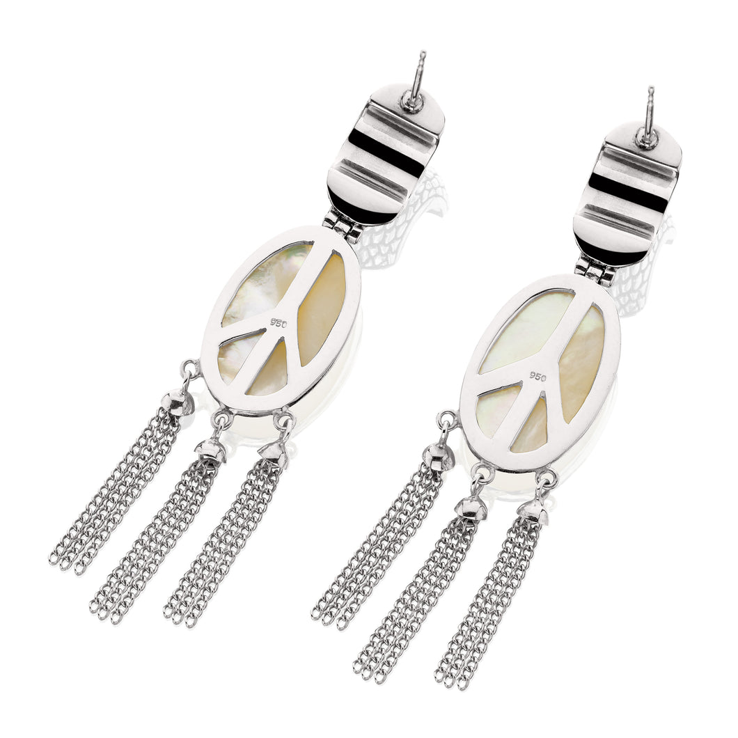 Madison Oval Tassel Earrings - earring - KIR Collection - designer sterling silver jewelry