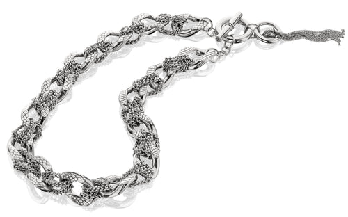 Anna Tassel Necklace - necklace - KIR Collection - designer sterling silver jewelry