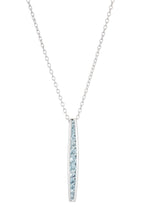Channel Bar Necklace - necklace - KIR Collection - designer sterling silver jewelry