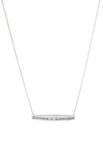Channel Sideways Bar Necklace - necklace - KIR Collection - designer sterling silver jewelry