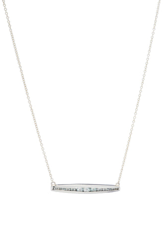 Channel Sideways Bar Necklace