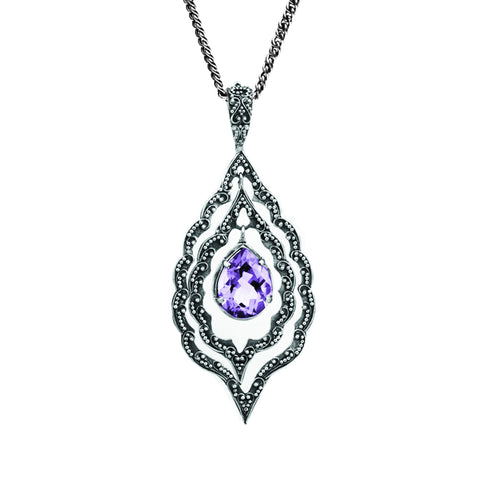Marjorie Marquis Pendant - pendant - KIR Collection - designer sterling silver jewelry