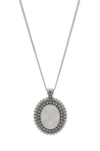 Stupa Drusy Pendant - pendant - KIR Collection - designer sterling silver jewelry
