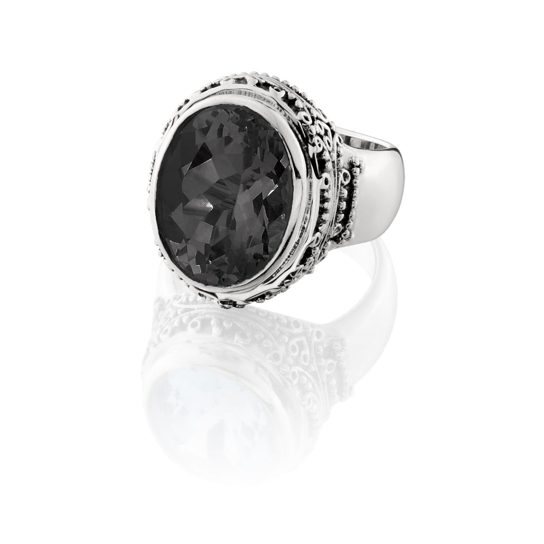 Kirsten Stone Ring - ring - KIR Collection - designer sterling silver jewelry