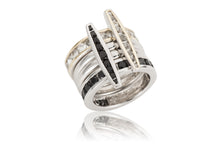 Channel Vertical Ring - ring - KIR Collection - designer sterling silver jewelry