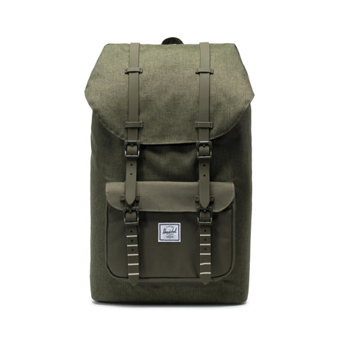 Herschel Little America 600D Poly Olive Night Crosshatch/Olive Night
