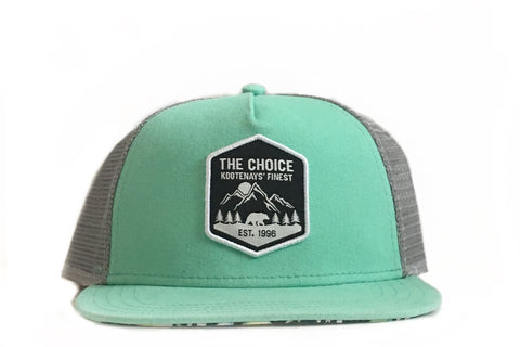 The Choice Kootenays' Finest Hat Teal/Floral Brim