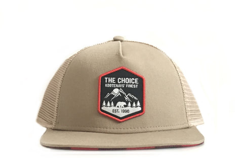 The Choice Kootenays' Finest Hat Tan/Red Plaid