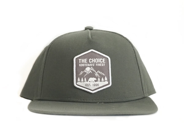 The Choice Kootenays' Finest Hat Green/Heather Grey