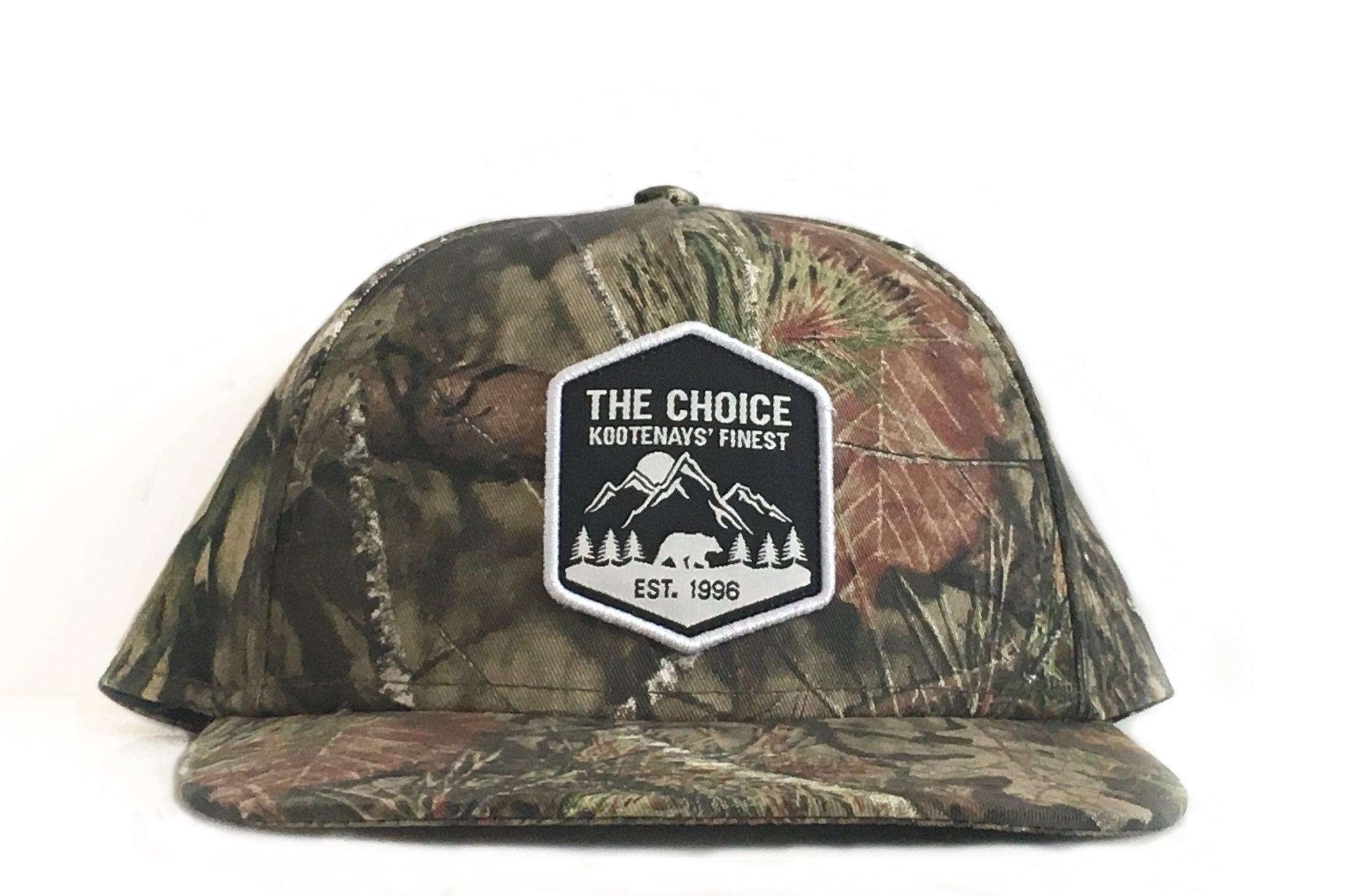The Choice Kootenays' Finest Hat Mossy Oak Camo