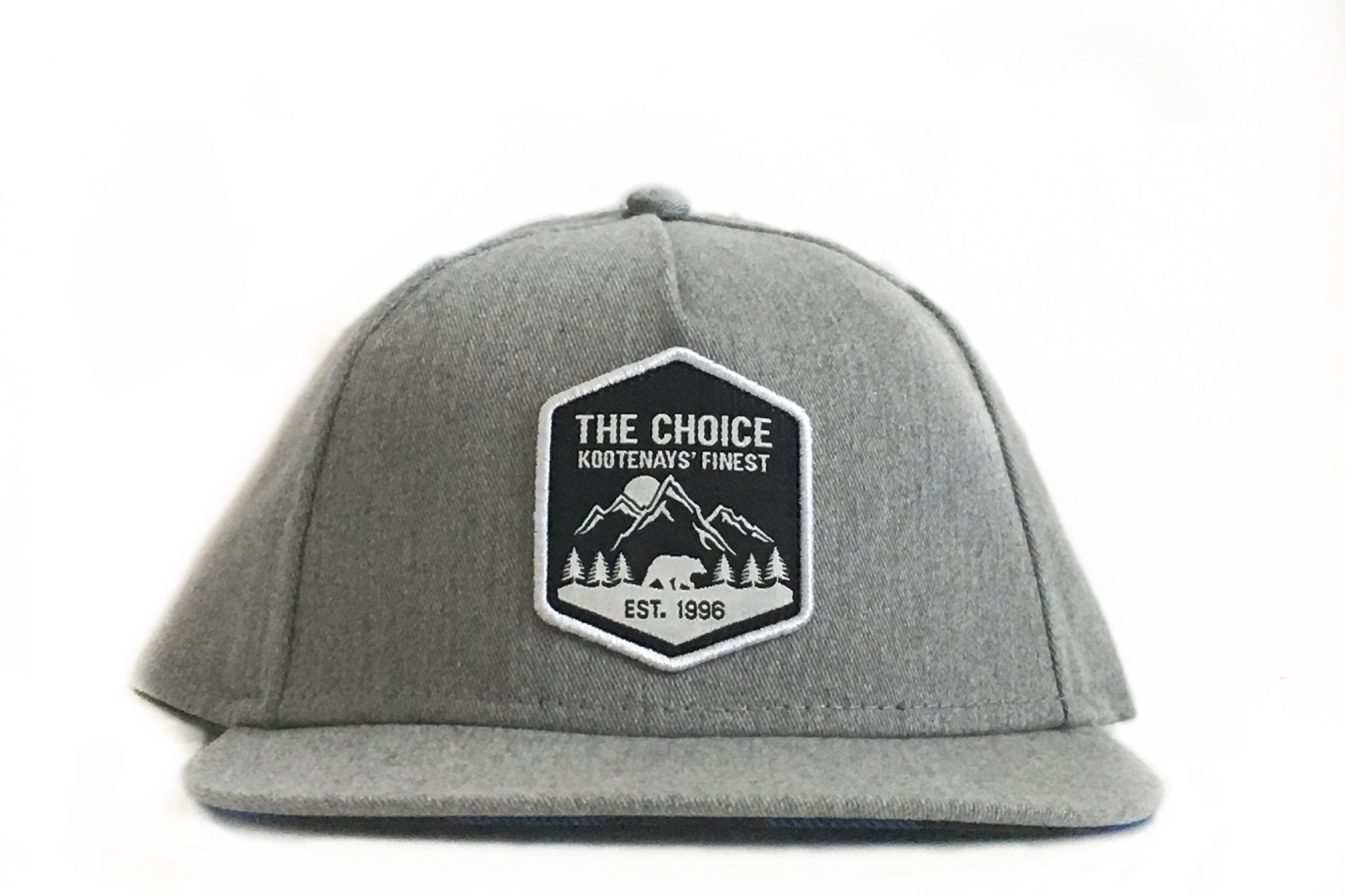 The Choice Kootenays' Finest Hat Light Grey/Blue Plaid