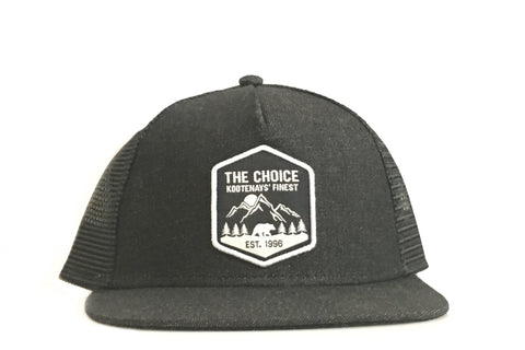 The Choice Kootenays' Finest Hat Black Denim