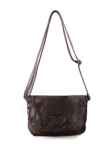 Jamie Women's Python Print Genuine Leather Crossbody Bag