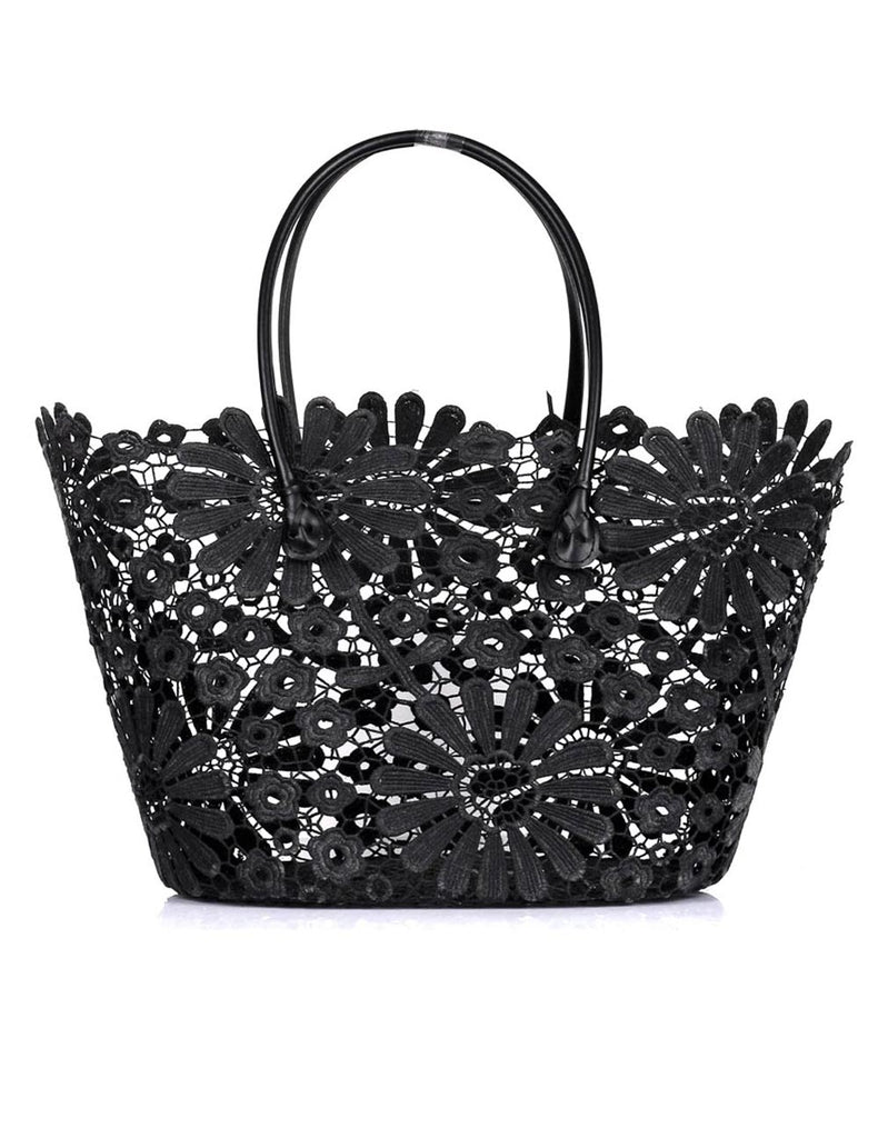 Women's Summer Lace Bag Daisy Black