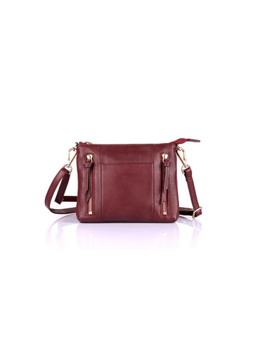 Irene Women's Prestige Leather Compact Crossbody Bag