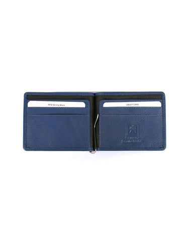 Men's RFID Leather Money Clip Wallet