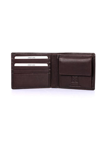Men's RFID Leather Bifold Wallet with Coin Pocket