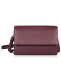 Delia RFID Blocking Leather Travel Crossbody Clutch