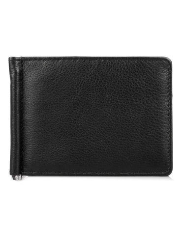Martin RFID Leather Money Clip with Card Holder Insert