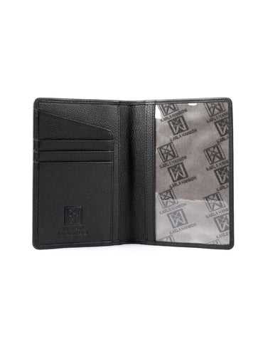 RFID Travel Leather Passport Holder Black