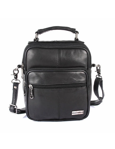 Men's Compact Leather Travel Crossbody Bag