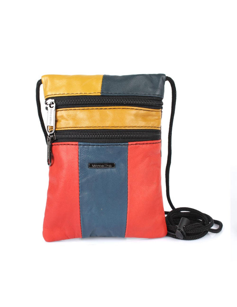 Jamie Women's Genuine Leather Multi-Colored Crossbody Bag