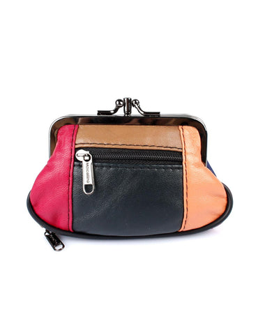 Jamie Women's Genuine Leather Multi-Colored Coin Purse