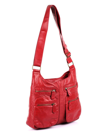 Charlotte Pre-Washed Women's Crossbody Hobo Bag More Colors