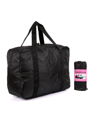 Pack n Fold Foldable Travel Duffel Bag Black
