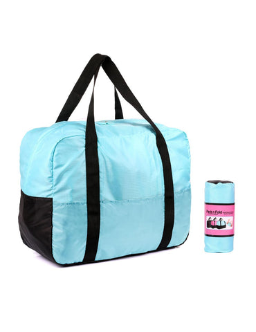 Pack n Fold Foldable Travel Duffel Bag Blue