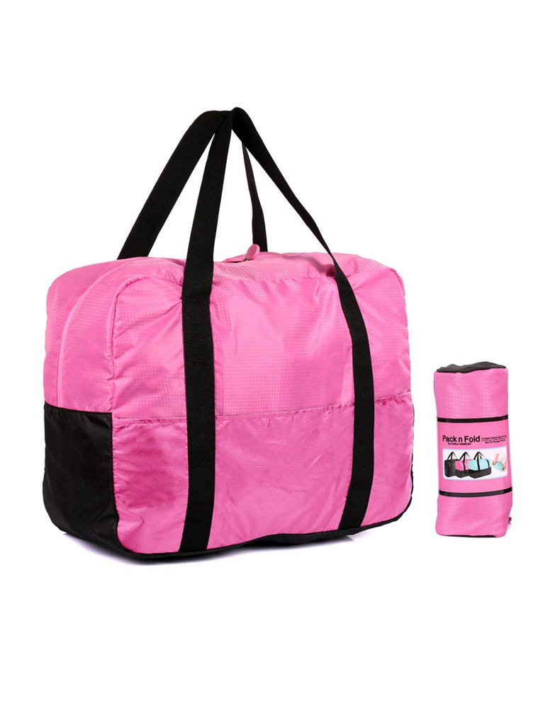 Pack n Fold Foldable Travel Duffel Bag Pink