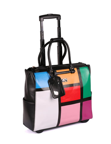 Women's RFID Travel Trolley Color Blocking