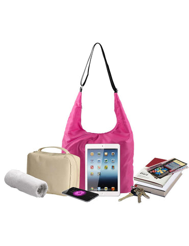 Pack n Fold Foldable Hobo Crossbody Bag Pink