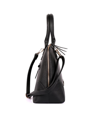 Julie Women's Dome Satchel Bag Black